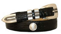 3489 Dress Leather Indian Nickel Conchos Belt
