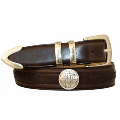 "3495 Lacing Dress Belt - 1 3/8"" wide CORDOVAN"