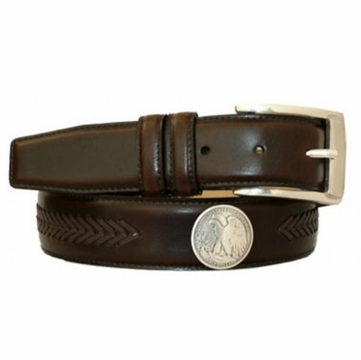 "3498 Men's Dress Belt  1 3/8"" wide"