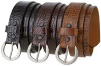 NEW!!! 3506 Alligator Embossed Women's Casual - Dress Belt - 1 3/8""