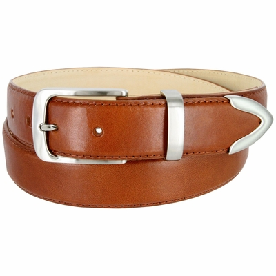 "3507 Men's Genuine Smooth Casual Dress Leather Belt - TAN 1 3/8"" Wide"