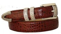 "3514 Italian Calfskin Leather Dress Belt - 1 1/8"" wide"