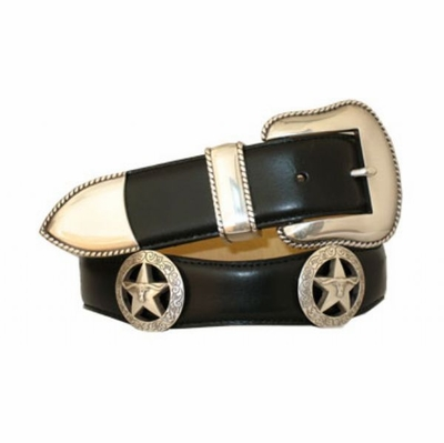 "3519 Scallop Leather Belt - 1 1/2"" wide"