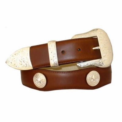 """3521 Scallop Leather Belt - 1 1/2"""" wide"""