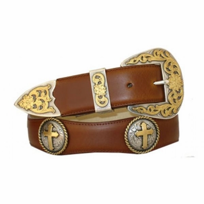 "3539 Scallop Leather Belt - 1 1/2"" wide"