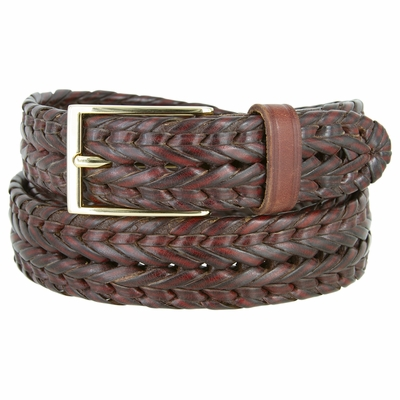 "354 Braided Leather Dress Belt – 1 1/8"" wide"