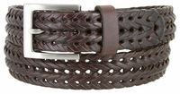 355 Braided Leather Dress Belt � 1 1/8� Wide - Brown