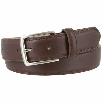"3555 Genuine Leather Casual Dress Belt 1-3/8"" wide - Brown"