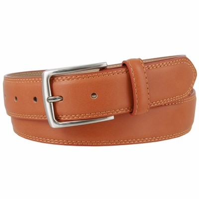 "3555 Genuine Leather Casual Dress Belt 1-3/8"" wide - Tan"