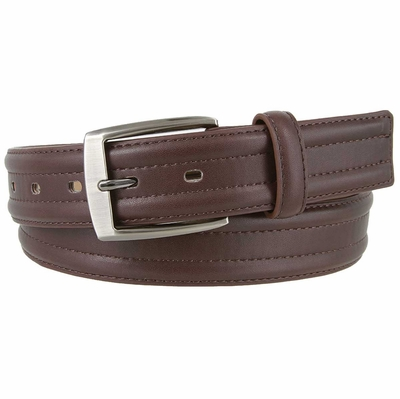 "3557 Genuine Leather Dress Belt 1-3/8"" wide - Brown"