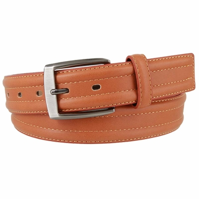 "3557 Genuine Leather Dress Belt 1-3/8"" wide - Tan"