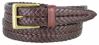 356B Braided Leather Dress Belt � 1 1/8� Wide - Burgundy
