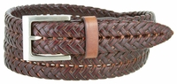 356S Braided Leather Dress Belt � 1 1/8� Wide - Burgundy