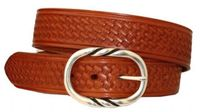 "3571 Basket-weave Leather Belt - 1 1/2"" wide"