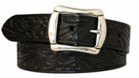 "3624 Floral Embossed Belt - 1 1/2"" wide"