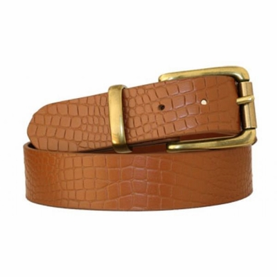 "3650 Full Grain Embossed Leather Belt - 1 3/8"" wide"