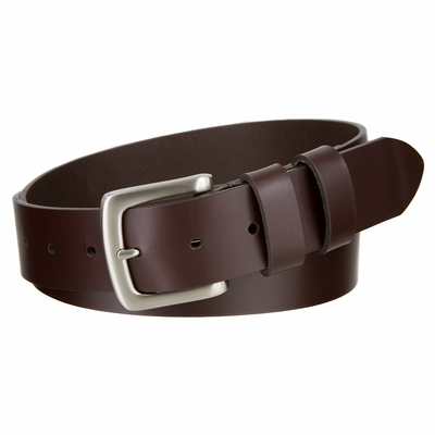 "3695 Double Loop Casual Leather Dress Belt  - 1 1/2"" wide"