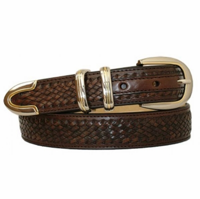 "3745 Lacing Leather Dress Belt - 1 1/8"" wide"