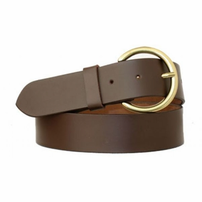"3751 Women's Casual full Grain Leather Belt - 1 1/2"" wide"