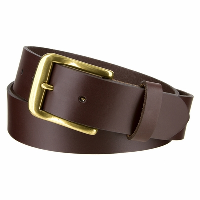 "3782 Leather Casual Dress Belt - 1 3/8"" Made in the U.S."
