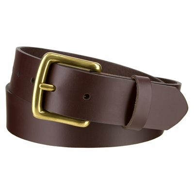 "3784 Leather Dress Belt - 1 3/8"" wide Made in U.S."