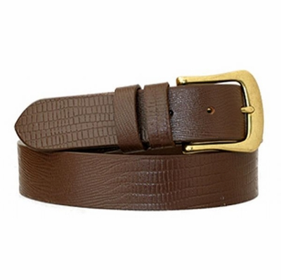 "3788 Full Grain Embossed Casual Leather Belt - 1 3/8"" Wide"