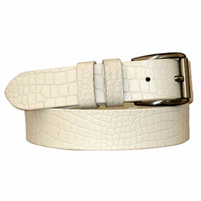 "3792 Embossed Leather Casual Belt - 1 3/8"" Wide"