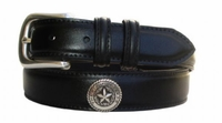 "380 Calfskin Leather Dress Belt - 1 1/4"" wide"