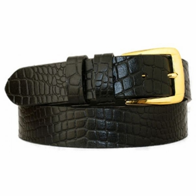 "3822 Full Grain Leather Belt - 1 1/4"" wide - BLACK"