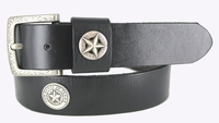"3838 Texas Vintage Star Full Grain Cowhide Leather Belt 1 1/2"" Wide"