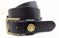 "3845 Shotshell Full Grain Leather Casual Belt - 1 1/2"" wide"