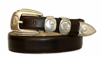 3851 Silver Emblems Golf Dress Belt