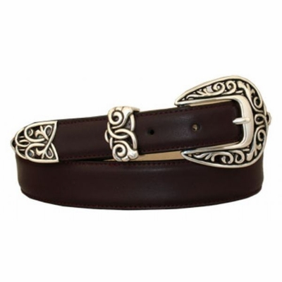 3860  Florence Leather Dress Belt - CORDOVAN