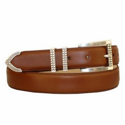 "3865 Leather Dress Belt - 1 1/8"" wide"