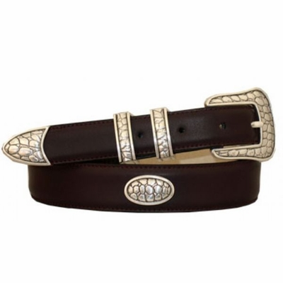 3869 Calfskin Leather Dress Belt