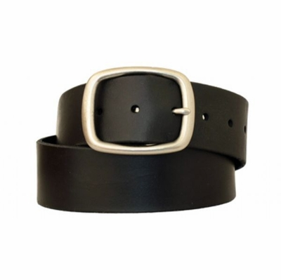 "3887 Full Grain Leather Casual Belt - 1 3/4"" wide - BLACK"
