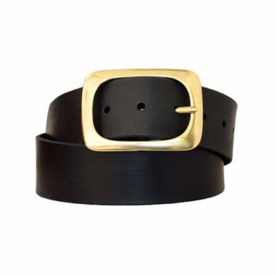 "3889 Full Grain Leather - 1 3/4"" Wide - BLACK"