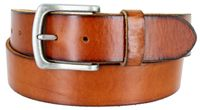 "3890XL Vintage Full Grain Cowhide Leather Casual Jeans Belt 1-1/2"" Wide - BLACK"
