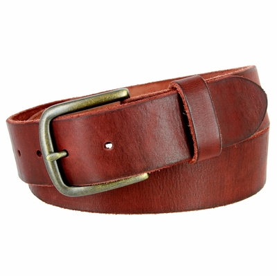 "3897 Vintage Full Grain Cowhide Leather Casual Jeans Belt 1-1/2"" Wide - 5 COLORS AVAILABLE"