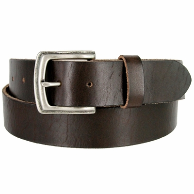"3899XL Vintage Full Grain Cowhide Leather Casual Jeans Belt 1-1/2"" Wide - BROWN"