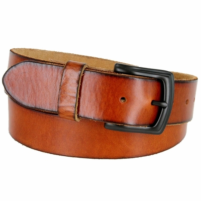 "3900 Vintage Full Grain Cowhide Leather Casual Jeans Belt - 1 1/2"" Wide 5 COLORS AVAILABLE"
