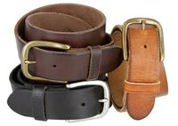 "3908 Men's Full Grain Leather Casual Jean Belt - 1 1/2"" Wide"