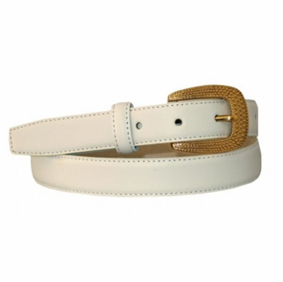 "3991  Leather Dress Belt - 1"" wide"