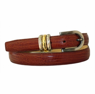 "4009 Italian Calfskin Leather Dress Belt - 1"" wide"