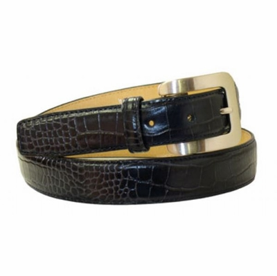 "4039 Women's Dress Calfskin Leather Belt - 1 1/8"" wide"