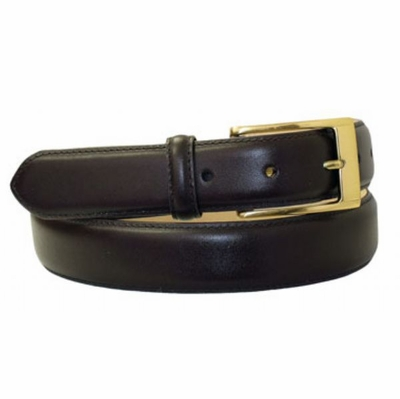 "4057  Calfskin Leather Dress Belt - 1 1/8"" wide"