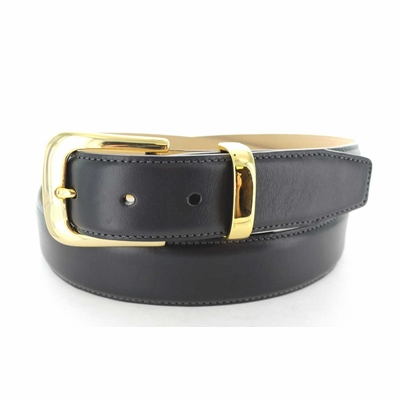 "4085 Calfskin Leather Dress Belt - 1 3/8"" wide"