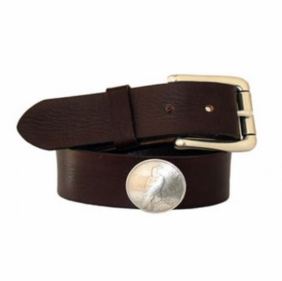 "4128 Full Grain vintage Leather Belt - 1 1/2"" wide"