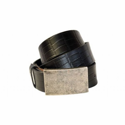 "4175 Croco-Print Full Grain Casual Leather Belt - 1 1/2"" wide"