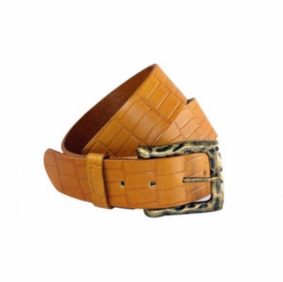"4139 Full Grain Casual Belt Croco Print - 1 1/2"" wide"